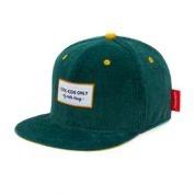 casquette velour verte