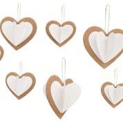 coeur en carton recyclé
