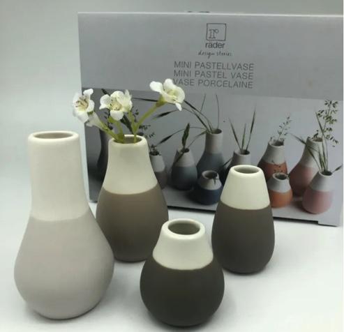 mini vases pastel