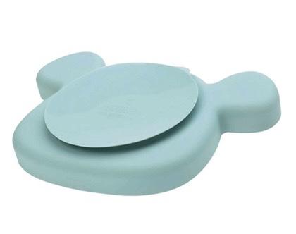 assiette ventouse bleu