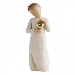 statue souvenir coeur or