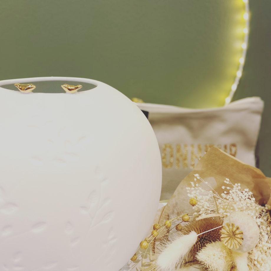 vase räser blanc
