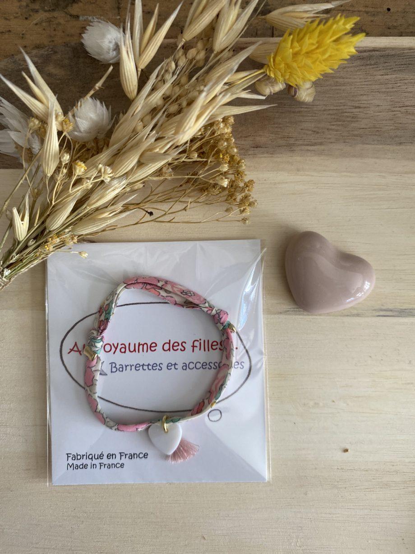 bracelet liberty rose coeur