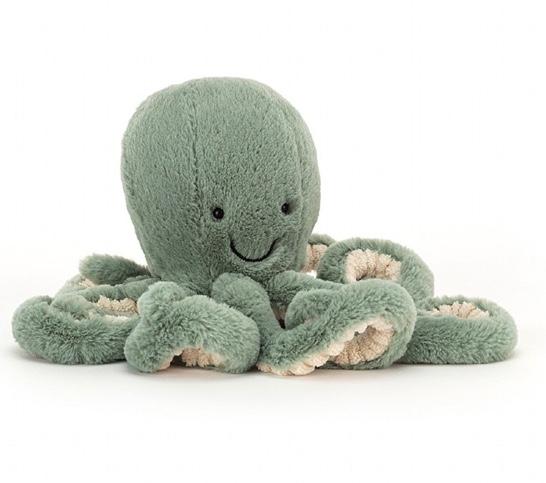 octopuss vert mousse jellycat