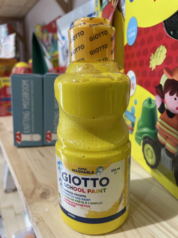 peinture giotto jaune