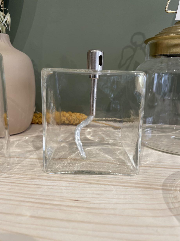 Lampe à huile cube