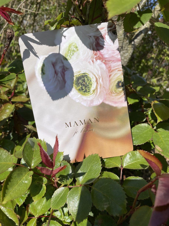 carte postale maman doré