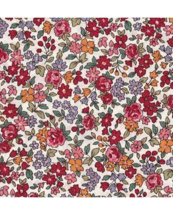 coupon de tissu fleuri frou frou