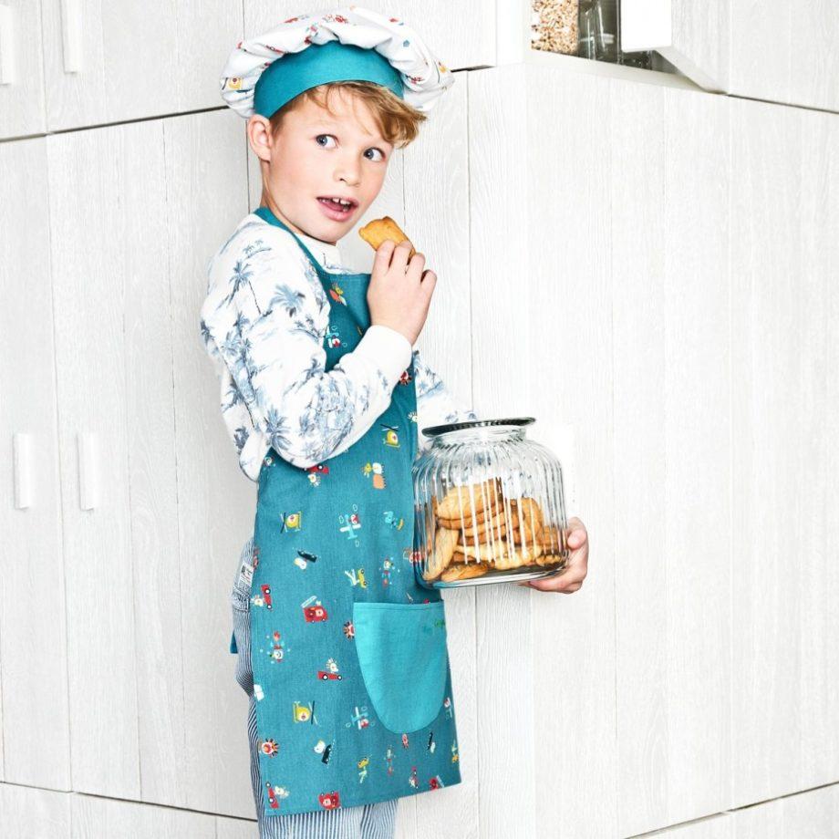 tablier et toque cuisine
