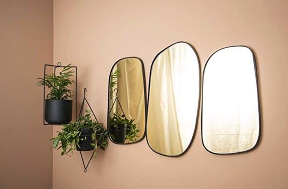 miroir black & gold
