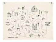 toile coton monuments de paris